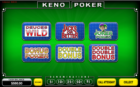 Poker Menu